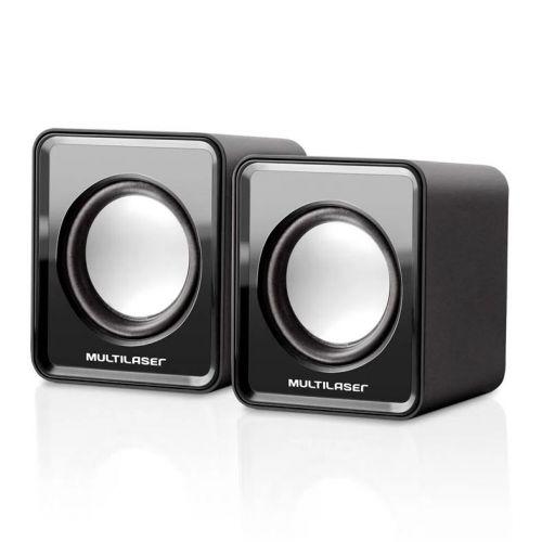 Caixa de Som Multilaser 3W Rms USB/P2 Preto, SP144