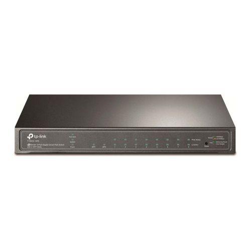 Switch TP-Link JetStream Gigabit 8 Portas PoE 10/100/1000Mbps + 2 Slots SFP , T1500G-10PS