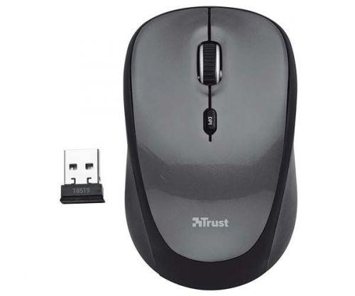 Mouse Trust YVI Wireless USB Preto/Cinza, T18519