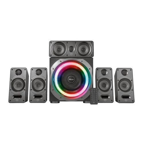 Caixa de Som Trust GXT 698 Torro 5.1 Dolby Digital RGB 90W RMS + Controle Remoto, T23059
