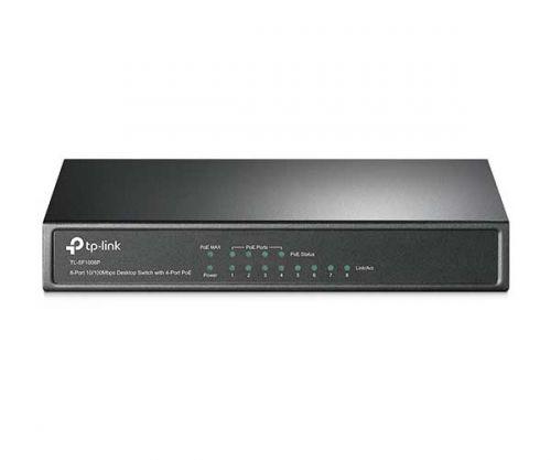 Switch TP-Link Desktop 8 Portas - 4 Portas PoE 10/100Mbps, TL-SF1008P