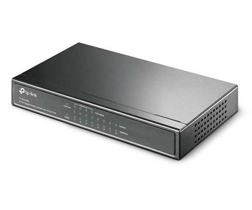Switch TP-Link Desktop 8 Portas - 4 Portas PoE 10/100Mbps, TL-SG1008P