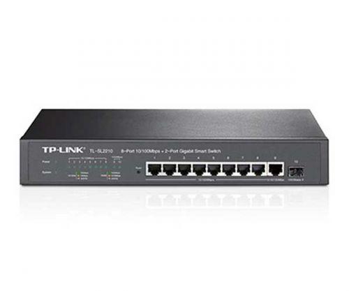 Switch TP-Link Smart 8 Portas 10/100Mbps + 2 Portas, TL-SL2210