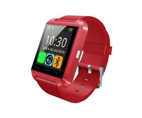 Smart Watch U8 Vermelho Bluetooth Compativel com IOS e Android