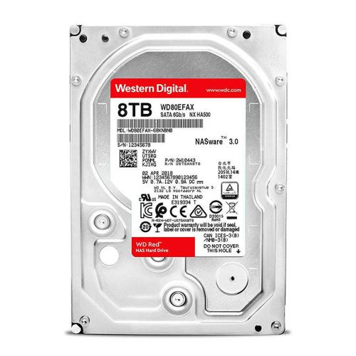 "HD WD Red NAS 8TB 3.5"" Sata III 6GB/s, WD80EFAX"