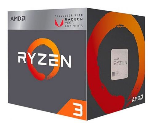 Processador AMD Ryzen 3 2200G Quad-Core 3.5GHz (3.7GHz Turbo) 6MB Cache AM4, YD2200C5FBBOX