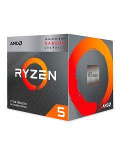 Processador AMD Ryzen 5 3400G, 4-Core, 8-Threads, 3.7GHz (4.2GHz Turbo), Cache 6MB, AM4, YD340GC5FHBOX