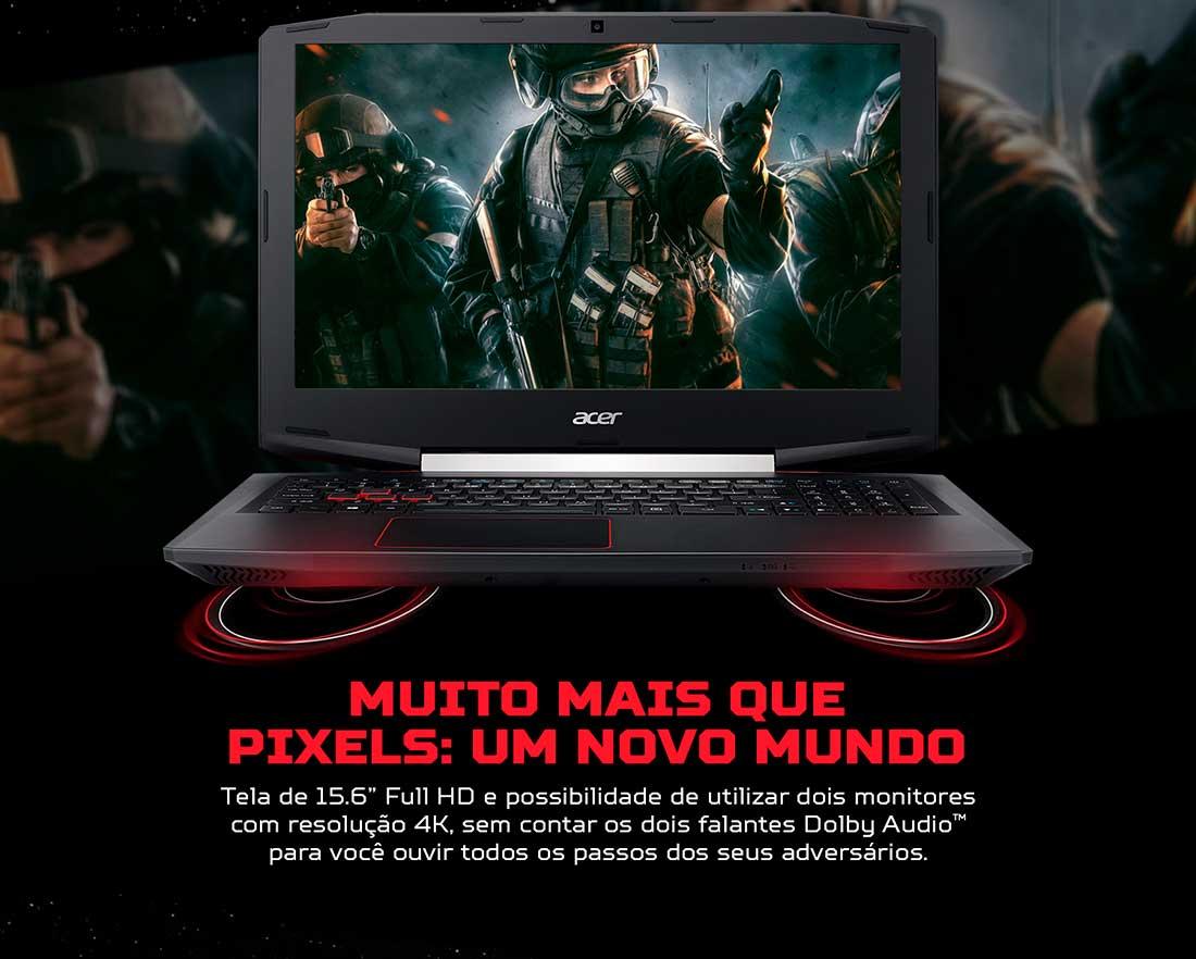 Notebook Gamer Acer Aspire NVIDIA GeForce GTX 1050, i5-7300HQ, 8GB, 1TB LED Full HD 15.6, VX5-591G-54PG